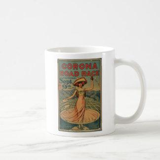 Annonsering för kranvägtävling kaffemugg