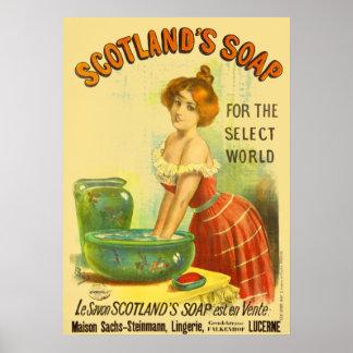 Annonsering för Skottland tvålvintage Poster