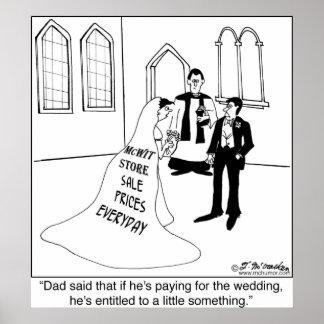 Annonsering på en bröllopkappa print