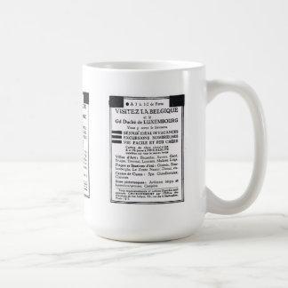 Annonsering Visitez la Belgique Kaffemugg