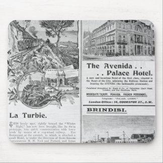 Annonseringar för den LaTurbie restaurangen, Musmatta