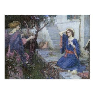 Annunciation vid JW-waterhousen, Victoriankonst Vykort