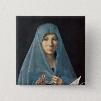 Annunciationen, 1474-75 standard kanpp fyrkantig 5.1 cm