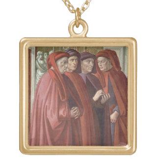 Annunciationen till St. Zacharias (fresco) (specif Guldpläterat Halsband