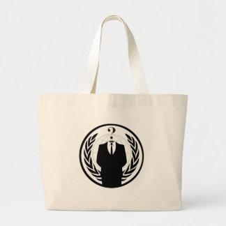 Anonym logotyp (klassikerstil) tote bags