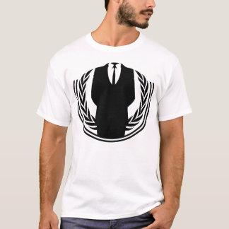 Anonym logotyp med ditt huvud:) t shirts