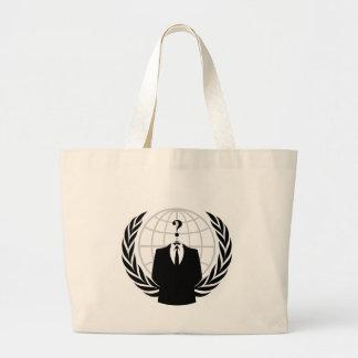 Anonym patriotism tote bags