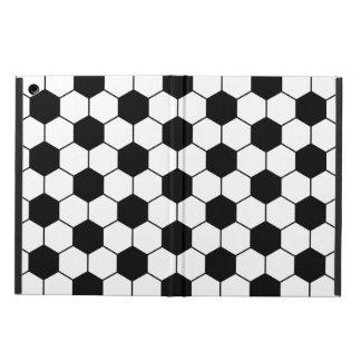 Anpassad vit för svart för fotbollbollmönster iPad air skal