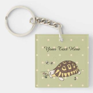 Anpassade Angulate sköldpadda Keychain (sid2)