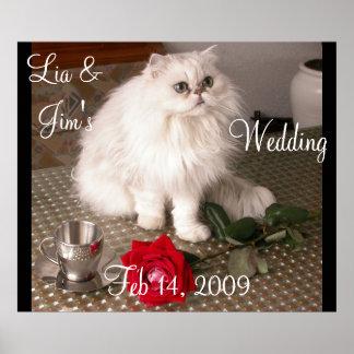Anpassade för affisch för valentin för kärlekkattb