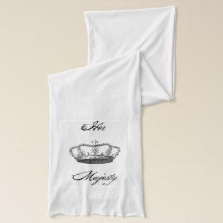Anpassade för kronavintagekonst sjal