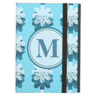 Anpassade för mönster för MonogramblåttSnowflake iPad Air Fodral