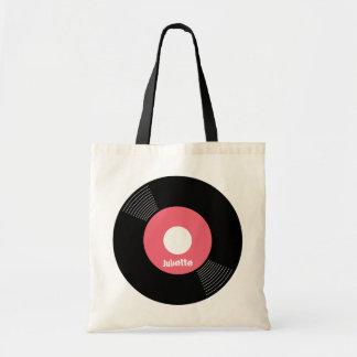ANPASSADE för toto för rekord 45s (rosa) Budget Tygkasse