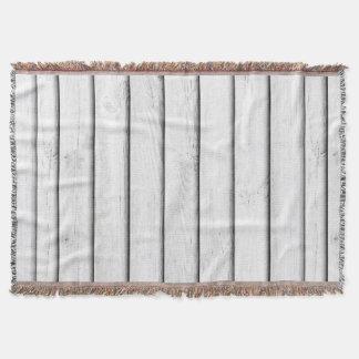 Anpassade för vit   för Slats   för Faux Wood Dekorativ Filt