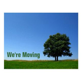 Anpassade: Vi flyttar oss Vykort