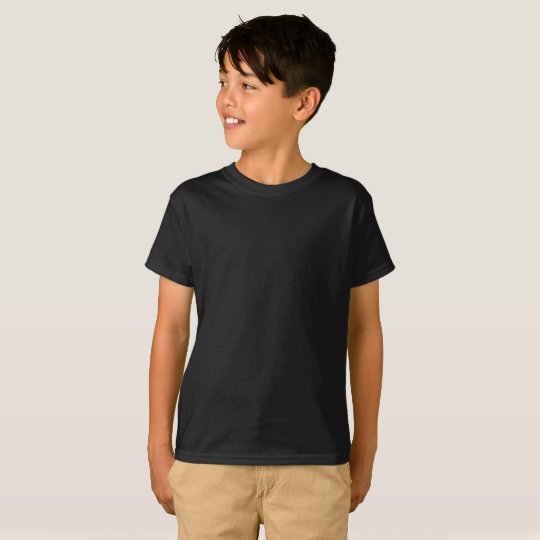 Barn Hanes TAGLESS® T-Shirt, Svart