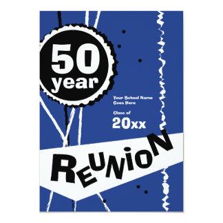 Anpassadeblått 50 år klassificerar möteinbjudan 12,7 x 17,8 cm inbjudningskort
