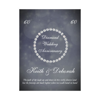 Anpassadediamantbröllopårsdag Canvastryck