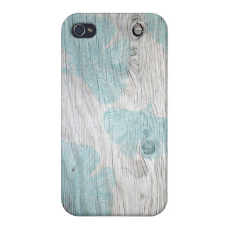 Anpassadeginkgoen lämnar iphone case iPhone 4 skydd