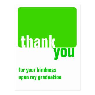 Anpassadegrönt - tacka dig - studenten vykort