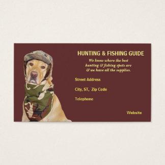 Anpassadejakt/fiske vägleder visitkort
