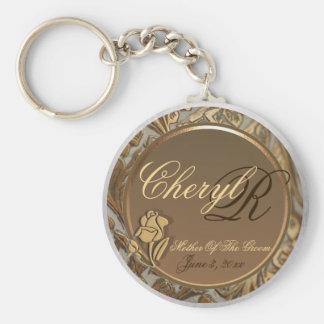 Anpassademor av brudgumminnessaken Keychain Rund Nyckelring