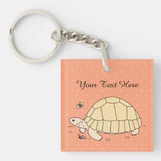 AnpassadePloughsharesköldpadda Keychain