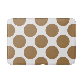 Anpassadepolka dots mönstrar någon färg på vit badrumsmatta