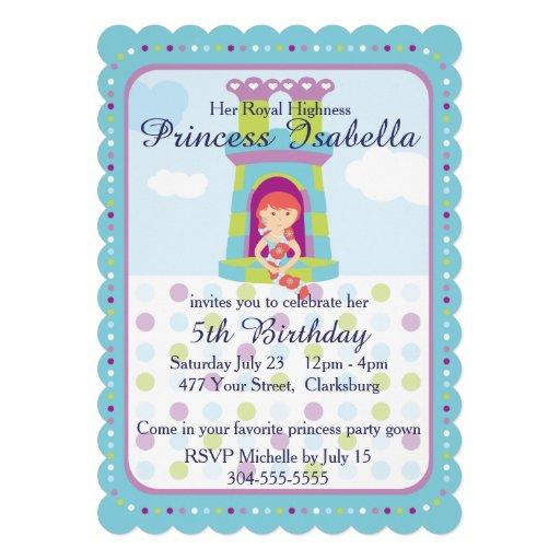 AnpassadePrincess födelsedagsfest Personliga Tillkännagivande
