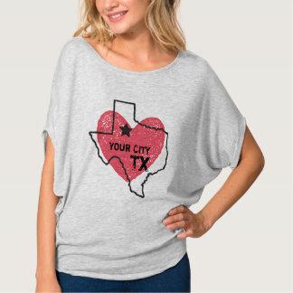 Anpassadestad, Texas statlig T-tröja T Shirt
