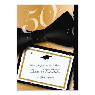 Anpassadet 50 år klassificerar möte 12,7 x 17,8 cm inbjudningskort