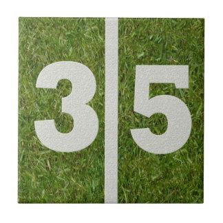 anpassadet för 35efödelsedagfotboll belägger med t kakel