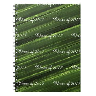 Anpassadet klassificerar av grön metall 2017 för anteckningsbok med spiral