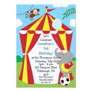 Anpassadet lurar cirkusfödelsedagsfesten personliga inbjudningskort