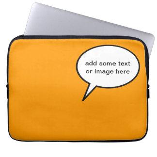 anpassadetecknadballong laptop sleeve