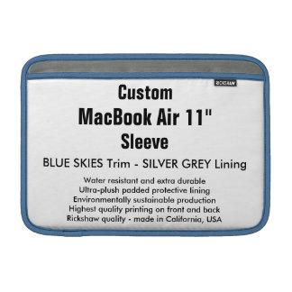 """Anpassningsbar 11"""" blå himmel för MacBook MacBook Air Sleeve"""
