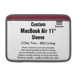 """Anpassningsbar 11"""" kol för MacBook luftsleeve (H) MacBook Sleeve"""