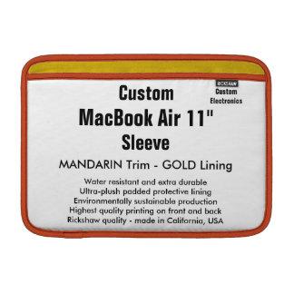 """Anpassningsbar 11"""" Mandarin & guld för MacBook Sleeve För MacBook Air"""
