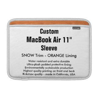 """Anpassningsbar 11"""" snö för MacBook luftsleeve (H), MacBook Air Sleeve"""