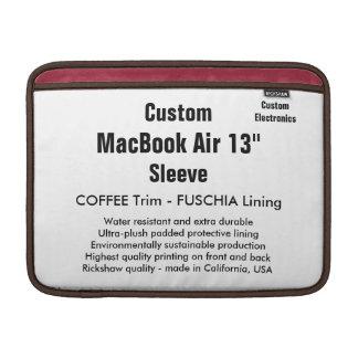 "Anpassningsbar 13"" kaffe & Fuschia för MacBook MacBook Sleeve"