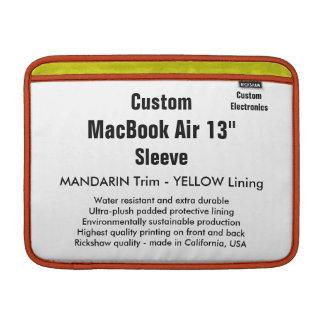 "Anpassningsbar 13"" Mandarin för MacBook luftsleeve MacBook Air Sleeve"