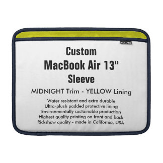 "Anpassningsbar 13"" midnatt MacBook luftsleeve (H), MacBook Air Sleeve"