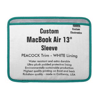 """Anpassningsbar 13"""" påfågel & vit för MacBook MacBook Sleeve"""