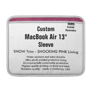"""Anpassningsbar 13"""" snö & rosor för MacBook Sleeve För MacBook Air"""