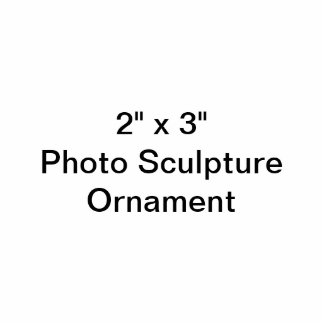 Anpassningsbar 2 x 3 fotoskulpturprydnad photo cutouts
