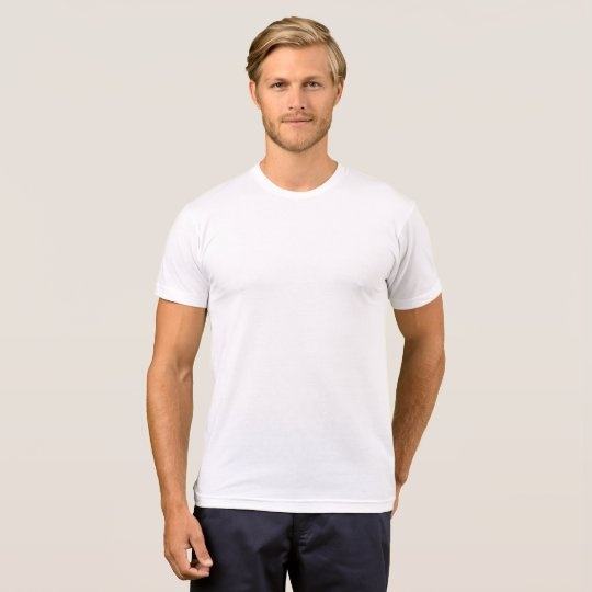 American Apparel Poly-bomullsblandning T-shirt, Vit