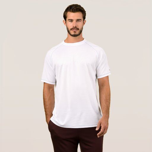 Champion Double Dry Mesh T-Shirt, Herr, Vit