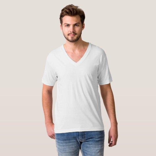 American Apparel Fine Jersey V-neck T-Shirt, Herr, Vit