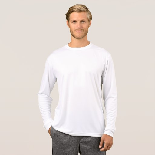 Sport-Tek Competiitor L/S T-shirt, Herr, Vit