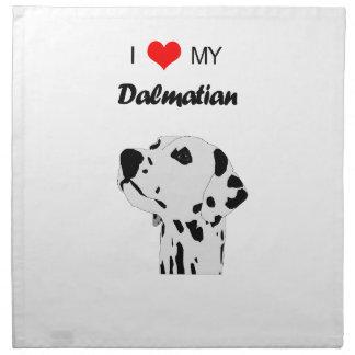 Anpassningsbar älskar jag min Dalmatian hundhjärta Tygservett